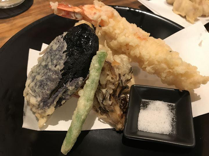 かばのおうどんの天ぷら盛りあわせ