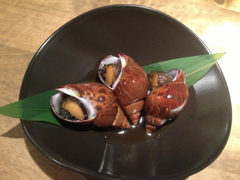 クロバイ貝の醤油煮