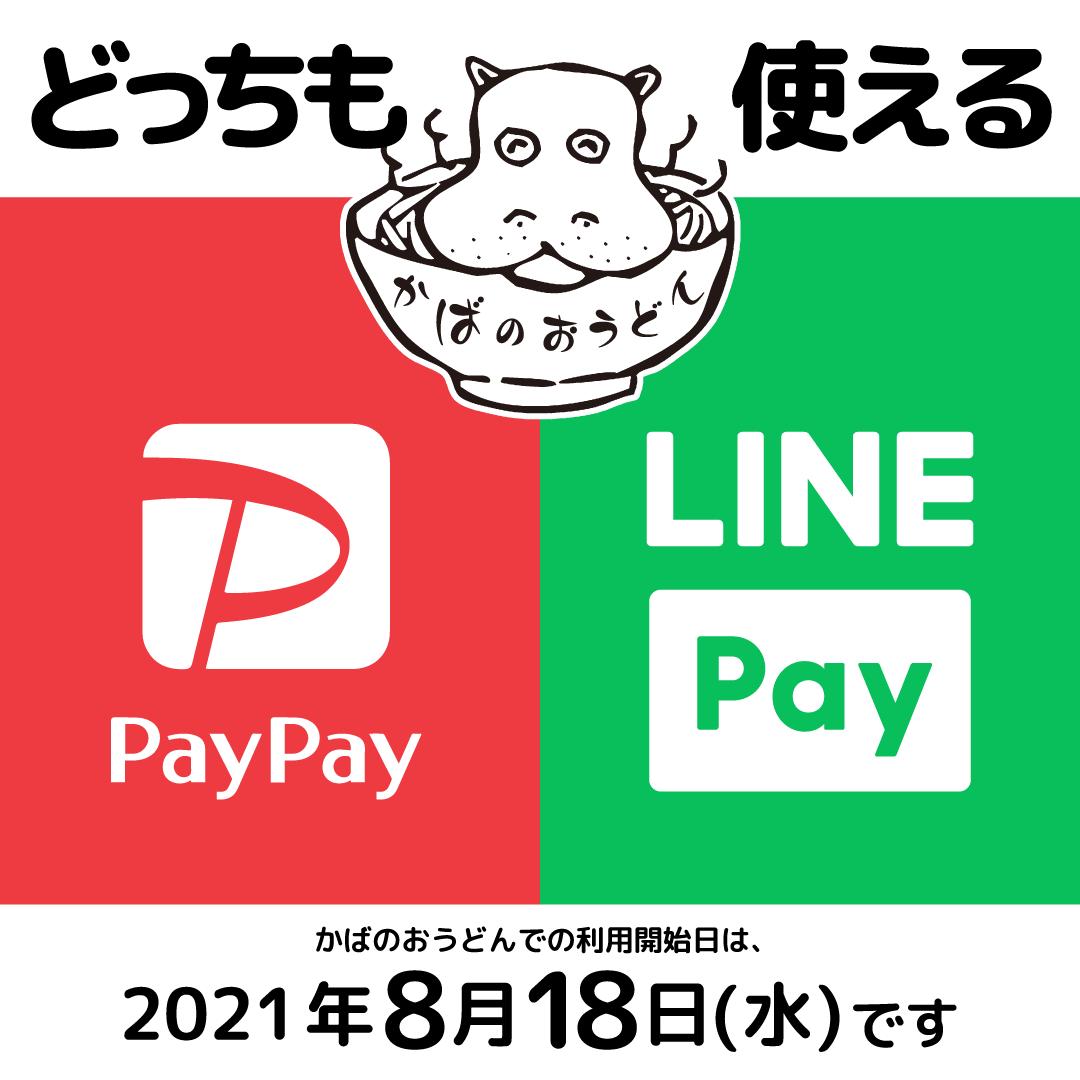 LINE Payが使えるようになる告知ポップ