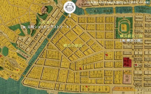 1882年(明治15年)頃の横浜市海岸沿いの様子
