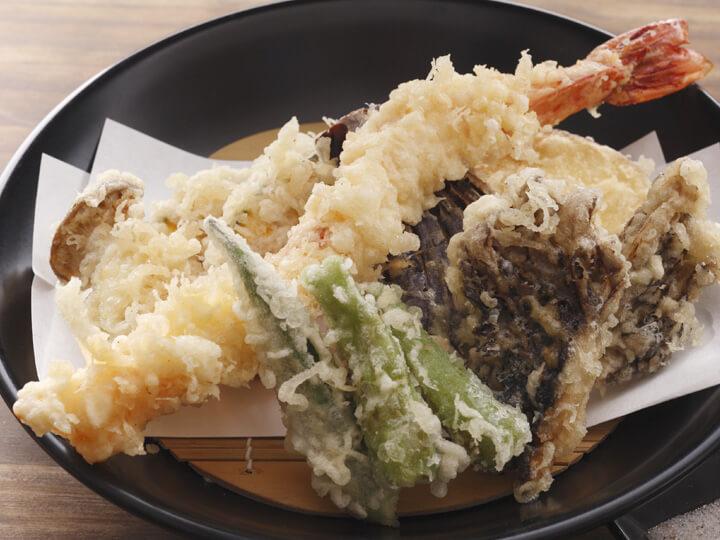 大海老と野菜天盛り合わせ